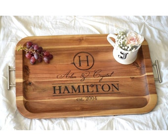 Personalized TV Tray with Handles Breakfast Tray Breakfast In Bed Serving Tray Wood Serving Tray Bed Tray Table Breakfast Bed Tray