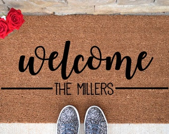 Personalized Welcome Doormat - Welcome Mat - Welcome Door Mat - Cute Doormat - Funny Doormat - Personalized Doormat - Personalized Door Mat