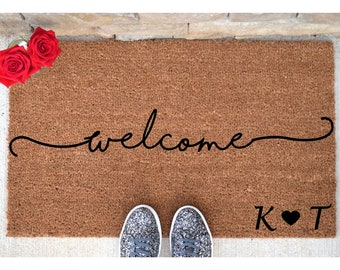 Personalized Welcome Doormat   Welcome Mat   Welcome Door Mat   Cute  Doormat   Funny Doormat   Personalized Doormat   Personalized Door Mat