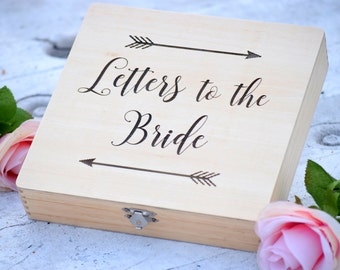 letters to the bride box bridal box gifts for the bride anniversary box love letter box keepsake box grooms gift engraved box