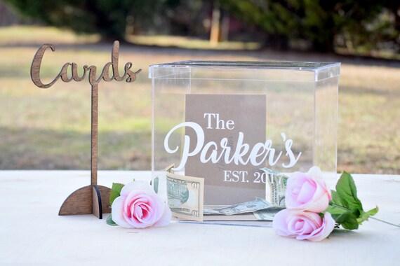 Card Gift Box Wedding: Personalized Wedding Card Box Acrylic Card Box Wedding