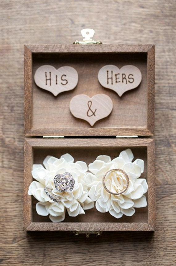 Ring Bearer Box Shabby Chic Rustic Wedding Decor Ring Etsy