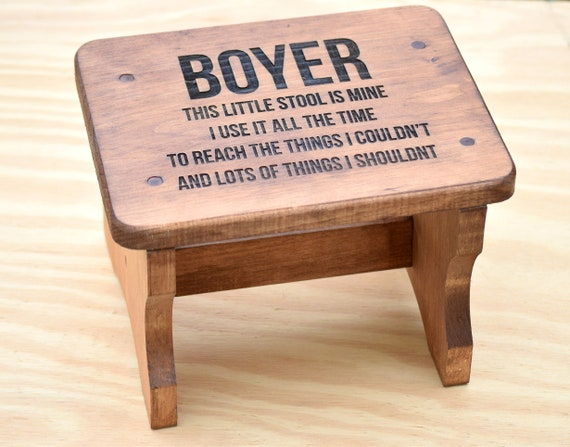 Miraculous Wood Stool Toddler Step Stool Personalized Stool Engraved Stool Kids Stool Bathroom Stool Kitchen Stool Name Stool Kids Gift Caraccident5 Cool Chair Designs And Ideas Caraccident5Info