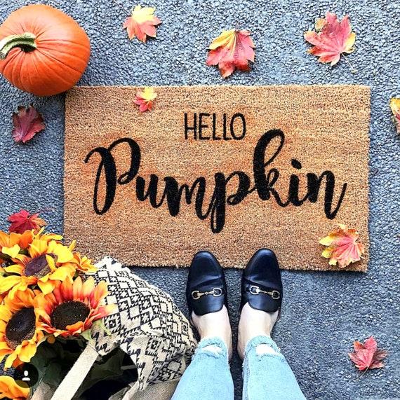 Hello Pumpkin Welcome Doormat Welcome Mat Welcome Door Mat