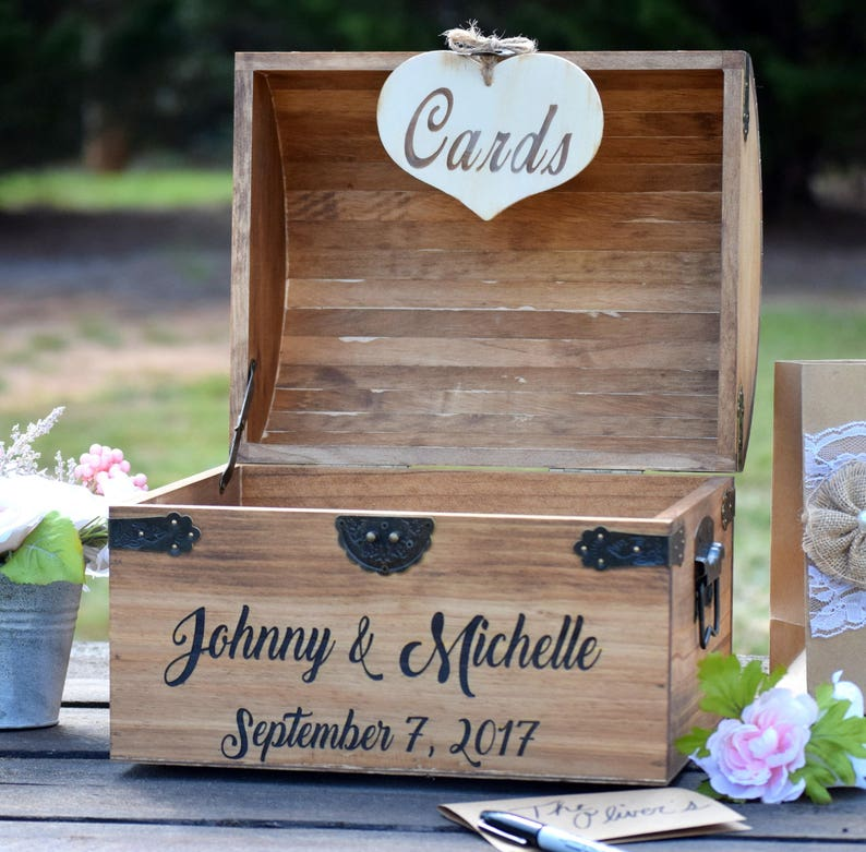 Rustic Wooden Card Box  Rustic Wedding Card Box  Rustic image 0