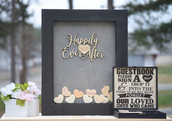 Wedding Guest Book Drop Box Guest Book Frame Wedding Etsy