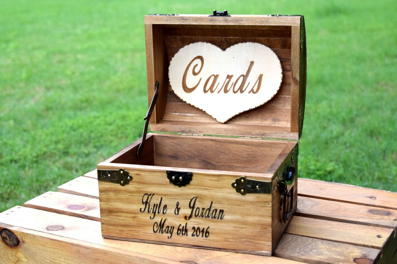Rustic Wooden Card Box Rustic Wedding Card Box Rustic |Wooden Chest For Wedding Cards