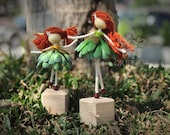 Succulent mom and daughter fairy doll, Succulent lover Miniature, No face doll, Succulent Ornament birthday gift, Mother gift