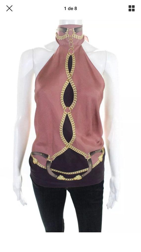 Gucci Silk Scarf Halter Top