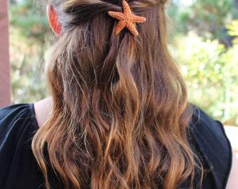 Small  Baja Starfish Hair Barrette, Starfish Hairclip, Mermaid Accessories, Beach Weddings