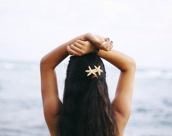 Starfish Duo Barrette, Beach Weddings, Mermaid Costume, Starfish hairclip