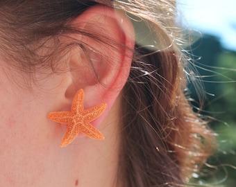 Baja Starfish Earrings, Mermaid Earrings and Accessories, Beach Weddings, Aquamarine