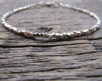 Silver Bead Bracelet, Hill Tribe Silver Bracelet, Silver Bead Jewelry, Hill Tribe Bracelet, Silver Stack Bracelet, Women's Bracelet, Gift