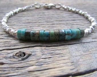Bead Stack Bracelet, Turquoise Bracelet, Boho Bead Bracelet, Southwest Bracelet, Boho Bracelet, Women Bracelet Stack, Gift For Her, Mom Gift
