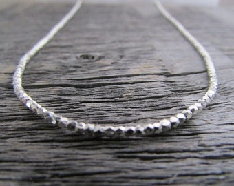 Women's Bead Necklace, Hill Tribe Silver Necklace, Boho Necklace, Silver Necklace, Minimalist Necklace, Silver Bead Necklace, Women's Gift