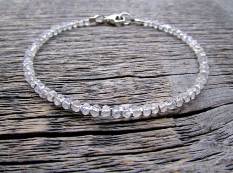 June Gift Moonstone Gemstone Moonstone Jewelry Stack Bracelet June Birthday June Bracelet June Birthstone Bracelet Moonstone Bracelet