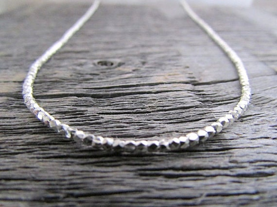 Silver Bead Necklace Hill Tribe Silver Necklace Silver Boho  50797a9bb