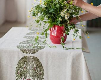 """Linen tablecloth """"Willowherb"""""""