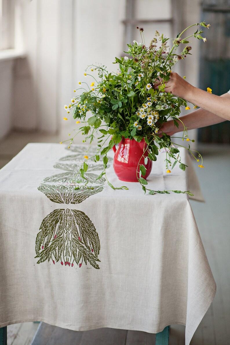 Linen tablecloth Willowherb image 0