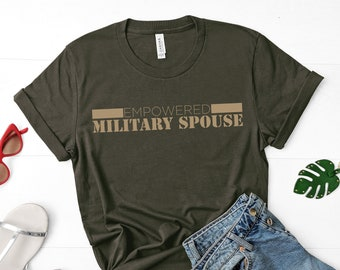 Empowered Military Spouse - Bella Canvas Short Sleeve T-Shirt