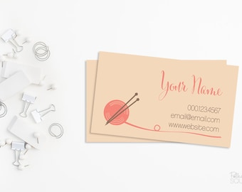 Yarn business card etsy printable business card design knitting business card pink business card yarn business card colourmoves