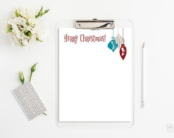 christmas letter head printable stationery merry christmas ornaments letterhead christmas stationery instant download word pdf jpg