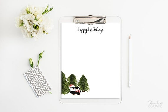 picture relating to Printable Christmas Letterhead titled Penguin stationery Xmas letter thoughts Printable stationery Joyful Vacations letterhead Xmas stationery Prompt Obtain Phrase PDF JPG