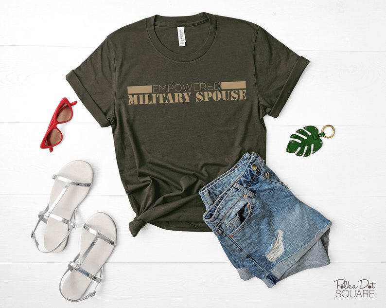 Bella Canvas Short Sleeve T-Shirt Empowered Military Spouse