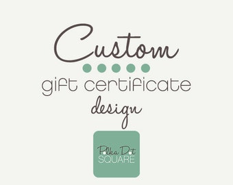 Printable gift certificate design Custom design Printable gift card