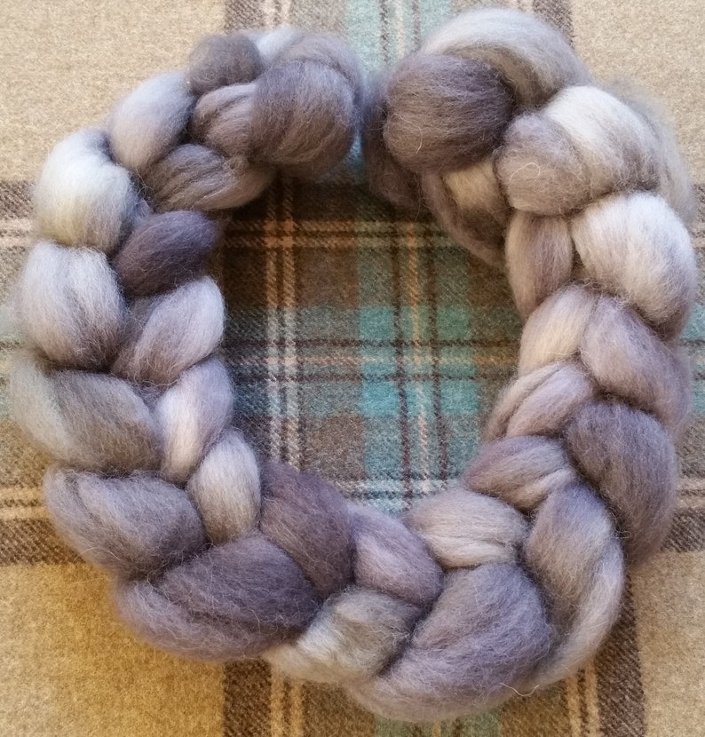 Grey Shetland Top 100 grams of Shetland top from the United Kingdom Shetland Roving great for spinning or felting
