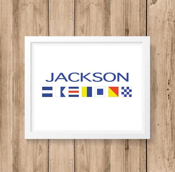 Nautical Flag Alphabet Personalized Name 8x10 11x14 or   Etsy
