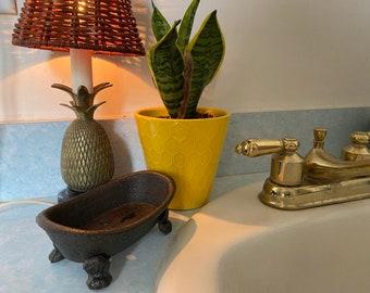 Cast Iron Tub Soap Holder, Mom Gift, Soap Dish Decor, Bath Tub Soap Dish, Farmhouse Gifts, Farmhouse Decor