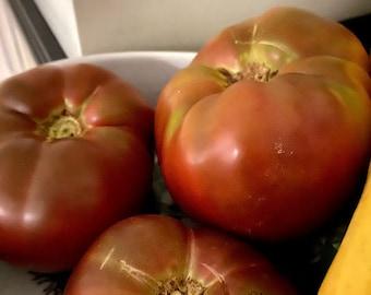 Cherokee Purple Tomato Seeds, Heirloom Tomato Seeds, Organic seeds, Sweet Tomatoes, Purple Tomatoes, Beefsteak tomatoes, Gardener Gifts