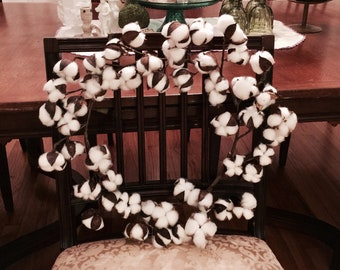 Cotton wreath, cotton decor, cotton boll stems, rustic wreath, rustic decor, farmhouse decor, rustic wedding wreath, DIY Cotton wreath