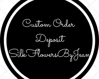 Holly S Final Deposit Custom Real Touch Ivory White Calla Lily Wedding Set