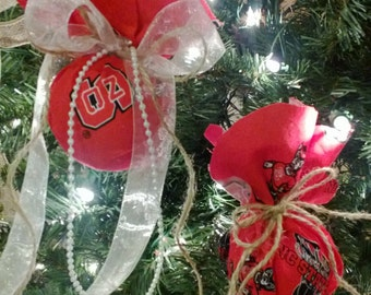 His & Her NC State Wolfpack Ornament Set, NC State Ornament, Christmas Ornament Gift for Him Gift for Her NCSU Ornament Christmas gift