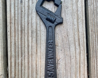 Cast Iron Wrench Bottle Opener, Father's Day Gift, Groom Gift, Dad Gift, Groomsmen gift, Tool gift
