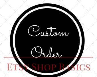 Etsy Custom Order Display | Digital File | Etsy Shop Basics by SilkFlowersByJean | Custom Order Banner | Sell On Etsy | Custom Etsy Banner