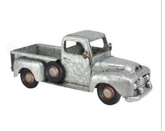 Silver Galvanized Metal Truck Planter, Truck Gift, Farmhouse Gifts, Gardening Decor, Gift for her, Gift for him, Garden Gifts, Truck gifts