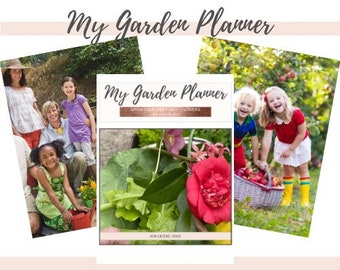 My Garden Planner Paperback Book, Grow Food + Flowers, Junk Journal, Flower Gardening, Container Garden, Herb Gardening, Vegetable Gardening