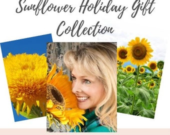 Sunflower Seeds Holiday Gift Collection, Sunflower Seeds, Teddy Bear Sunflowers, Mammoth Sunflowers, Irish eyes sunflowers, Flower seeds