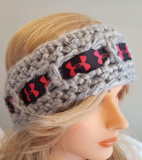 Crochet UA inspired head band. Made by Bead Gs on Etsy. Ladies  b38a3b659ed
