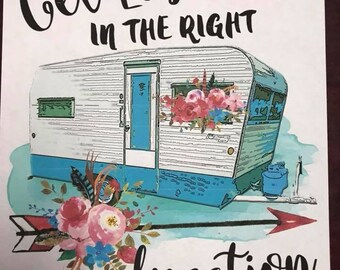 Get lost in the right direction camper sublimation transfer