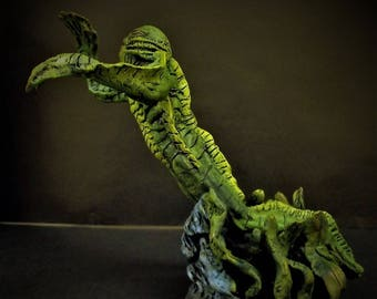 One of a kind clay sculpture - The Creature from the Black Lagoon