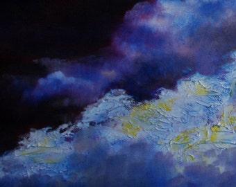 Cloudscape Sonata:  Original Oil Painting, OOAK