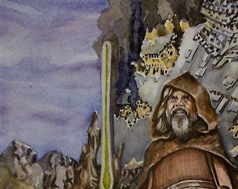 ReinventingThe Last Jedi - an original watercolor painting by Jason Sailer