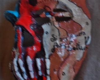 Patriotic Desert Camo Calaveras Mask - OOAK