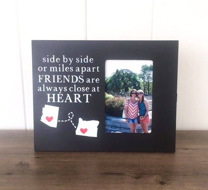 long distance friend picture frame going away gift for etsy