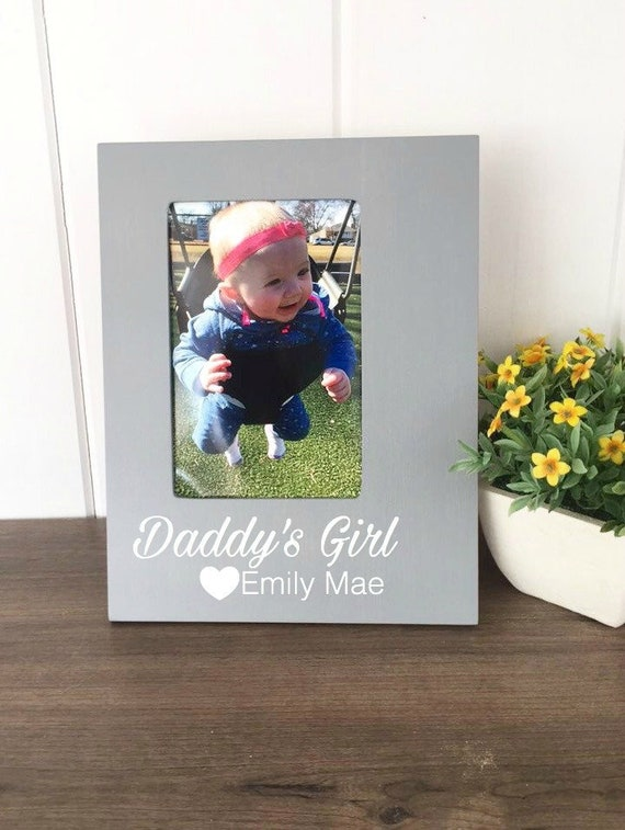 New Dad Picture Frame Daddys Girl Father Daughter