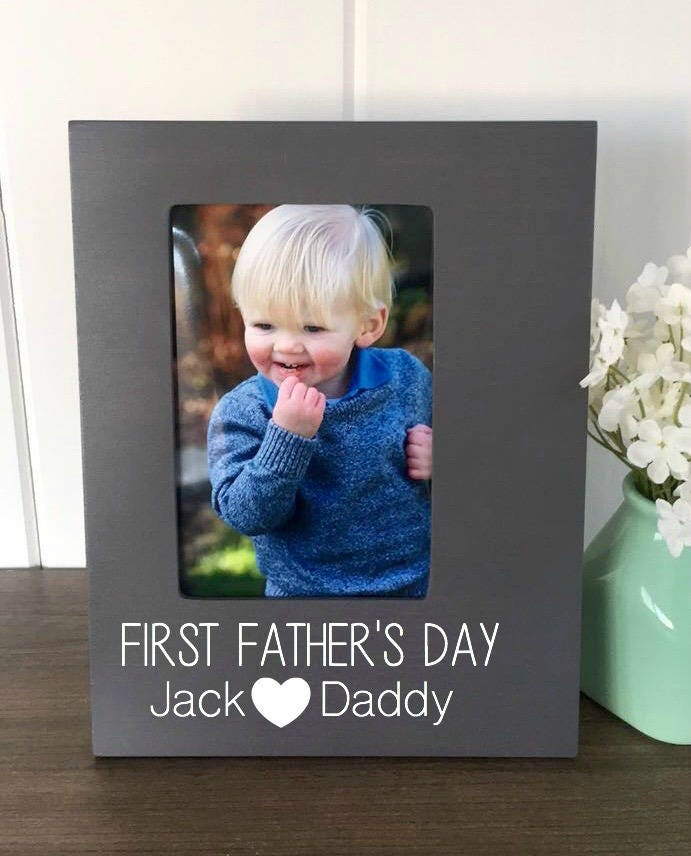 First Fathers Day Frame, First Fathers Day Gift, Daddy and Me Frame ...